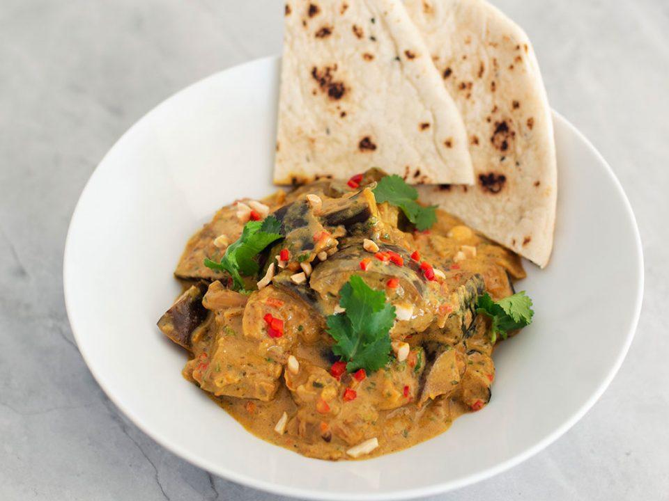 Eggplant & Coconut Curry